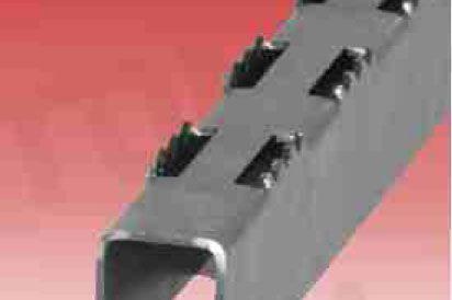 Wąski szczebel metalowy